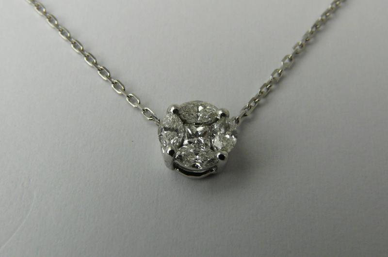 Bien-aimé Pendentif ras du cou diamants 0.43 carat - Diamants - Pierres  LL01
